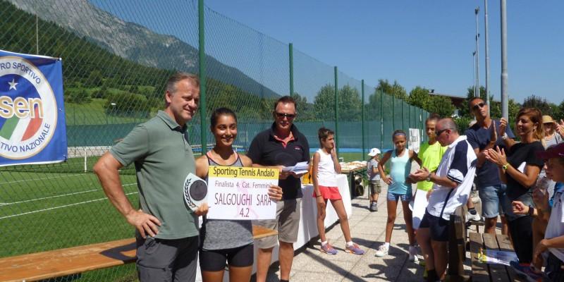 salgoughi sara vince torneo 4a categoria di Andalo, 28 agosto 2016